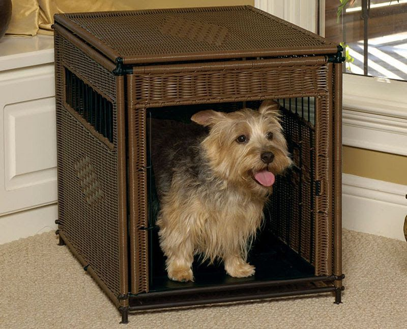 Best decorative dog crates. Dog kennel end table, crate TV stand reviews