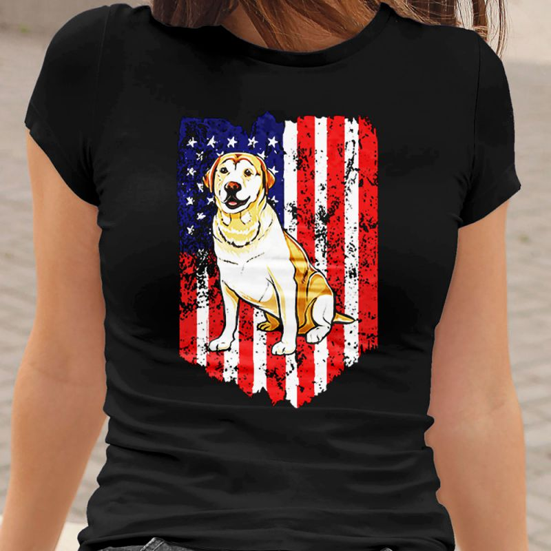 American Flag Labrador Retriever Women's T-Shirt