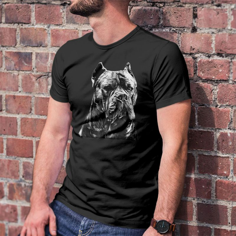 Cane Corso Italian Mastiff Head Men's T-Shirt
