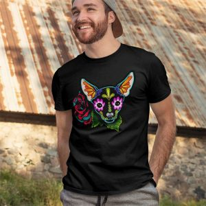 Chihuahua Sugar Skull Men's T-Shirt