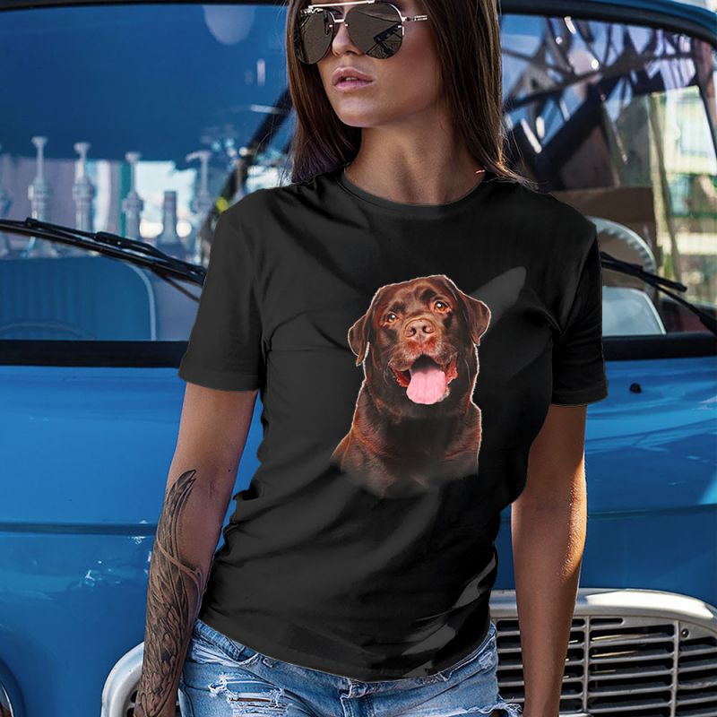 Chocolate Labrador Face Smile Women's T-Shirt
