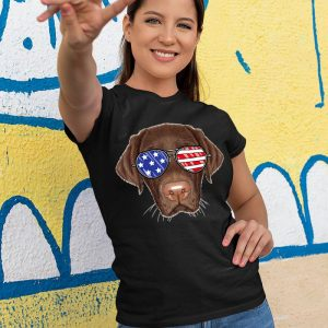 Chocolate Labrador Merica Glasses Women's T-Shirt