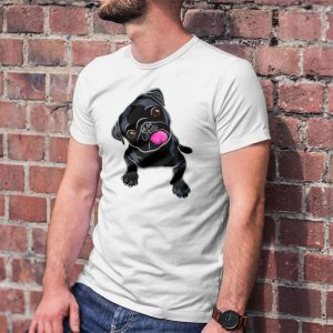 Cute Black Pug Lover Men's T-Shirt