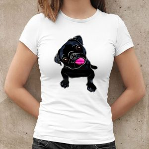 Cute Black Pug Lover Women's T-Shirt