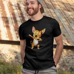 Cute Dabbing Chihuahua Dog Men's T-Shirt