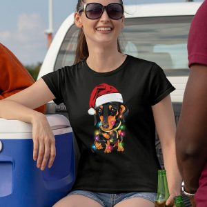 Dachshund Christmas Lights Women's T-Shirt