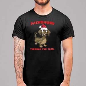 Dachshund Through The Snow - Dachshund Christmas Men's T-Shirt