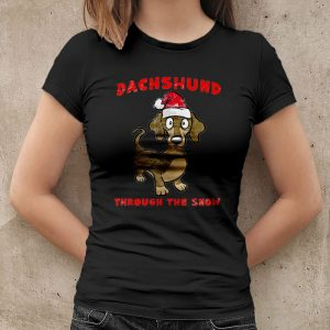 Dachshund Through The Snow - Dachshund Christmas Women's T-Shirt
