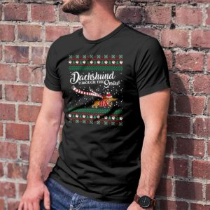 Dachshund Through The Snow - Dachshund Ugly Christmas Men's T-Shirt