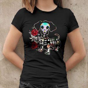 Day Of The Dead Dachshund Women's T-Shirt