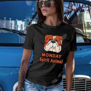 Funny Bulldog Monday Spirit Animal Women's T-Shirt