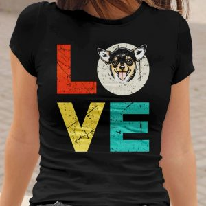 Funny Chihuahua Love Heart Women's T-Shirt
