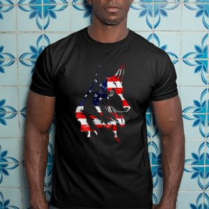 German Shepherd American Flag Men's T-Shirt