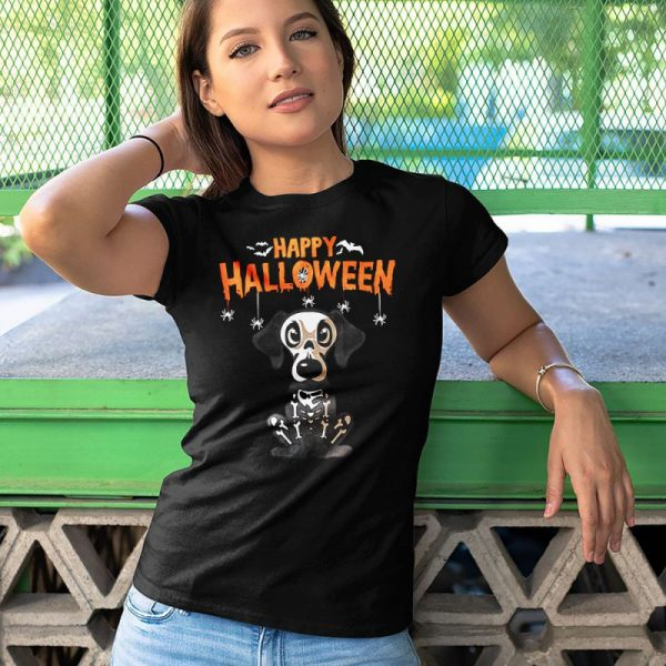 Happy Halloween Dachshund Skeleton Women's T-Shirt