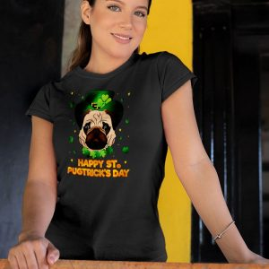 Happy St Patricks Day - Pugtricks Irish Pug Women's T-Shirt