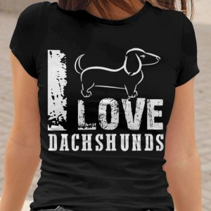 I Love Dachshunds Women's T-Shirt