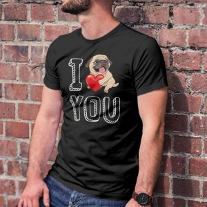 I Love You Pug Men's T-Shirt