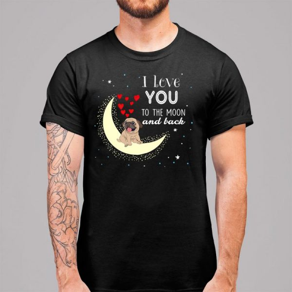I Love You Pug To The Moon and Back Men's T-Shirt
