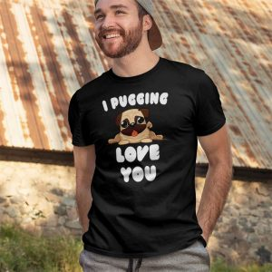 I Pugging Love You Men's T-Shirt