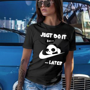 Just Do It Later Panda Women's T-Shirt
