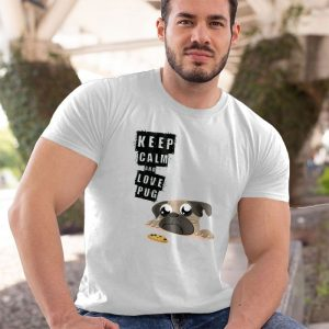 Keep Calm and Love Pug Men's T-Shirt