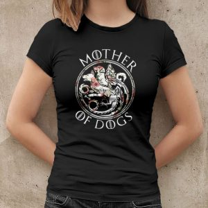 Mother Of Dogs Floral Flower Women's T-Shirt