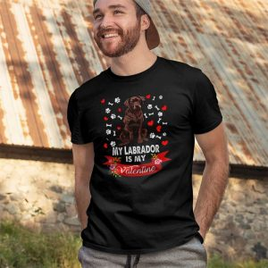 My Labrador Is My Valentine Men's T-Shirt