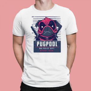 Pugpool - Funny Pug Dog Deadpool Mashup Men's T-Shirt