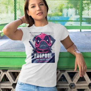 Pugpool - Funny Pug Dog Deadpool Mashup Women's T-Shirt