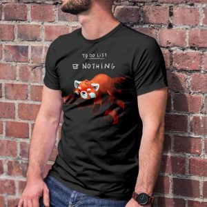 Red Panda Day To Do List - Nothing Men's T-Shirt