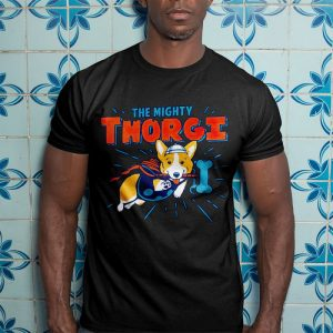 Thorgi - Funny Corgi Dog Thor Mashup Men's T-Shirt