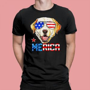Yellow Labrador 4Th Of July American Sunglass Men's T-Shirt