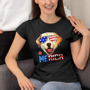 Yellow Labrador 4Th Of July American Sunglass Women's T-Shirt