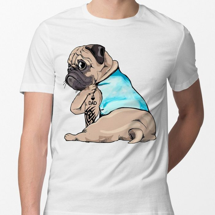 Best Pug Dad Shirts. Funny Pug Dad T-Shirts for Men and Boys