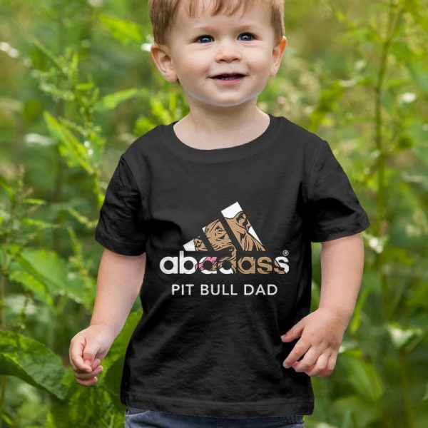 A-Badass Pitbull Dad Unisex Youth Kids T-Shirt