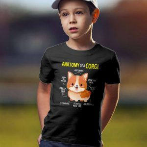 Anatomy of a Corgi Unisex Youth Kids T-Shirt
