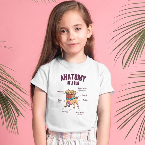 Anatomy of a pug Unisex Youth Kids T-Shirt