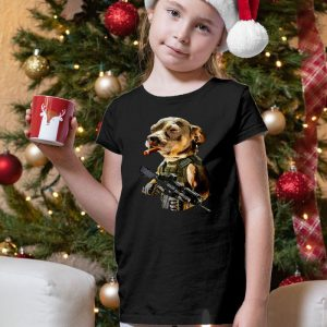 Army Pitbull Cigar Badass Unisex Youth Kids T-Shirt