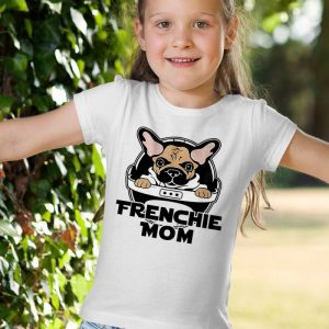 Baby Yoda Frenchie Mom Unisex Youth Kids T-Shirt