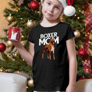 Boxer Mom Unisex Youth Kids T-Shirt