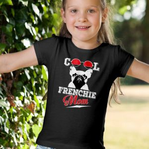 Cool Frenchie Mom Unisex Youth Kids T-Shirt
