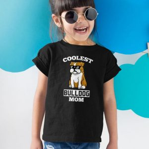 Coolest English Bulldog Mom Unisex Youth Kids T-Shirt