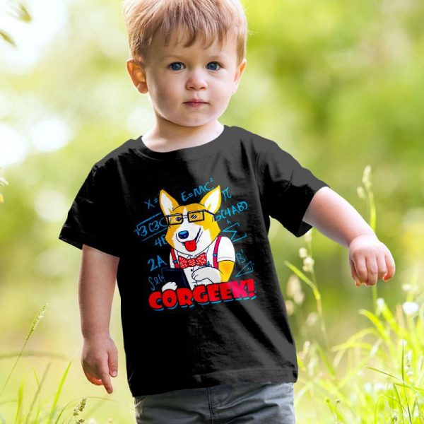 Corgeek - Corgi Dog & Geek Mashup Unisex Youth Kids T-Shirt