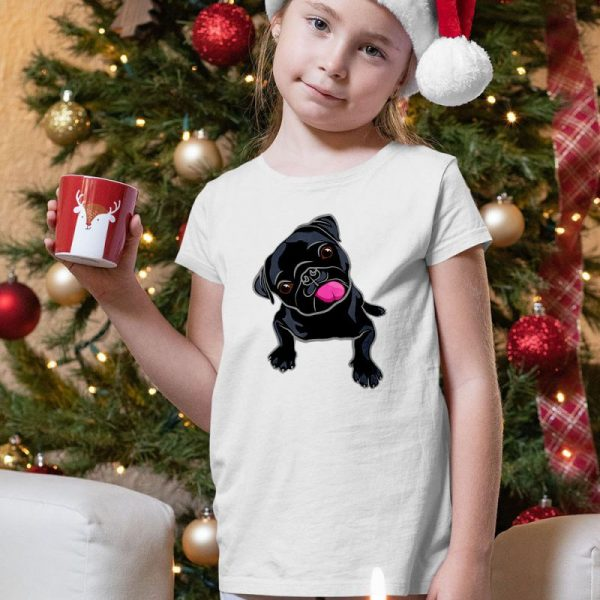 Cute Black Pug Lover Unisex Youth Kids T-Shirt
