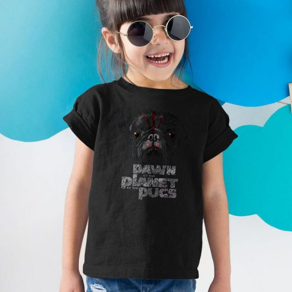 DAWN OF THE PLANET OF THE PUGS Unisex Youth Kids T-Shirt