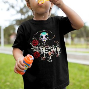Day Of The Dead Dachshund Unisex Youth Kids T-Shirt