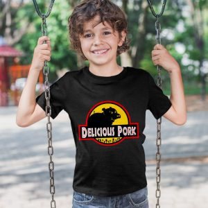 Delicious Pork - Jurassic Park Unisex Youth Kids T-Shirt