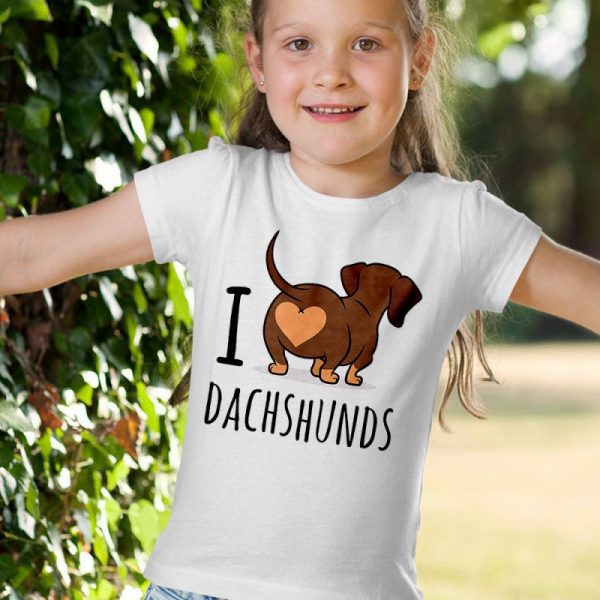 Funny I Love Dachshunds Unisex Youth Kids T-Shirt