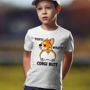 Guess What - Corgi Butt Unisex Youth Kids T-Shirt