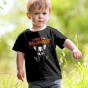 Happy Halloween Chihuahua - Skeleton Chihuahua Unisex Youth Kids T-Shirt